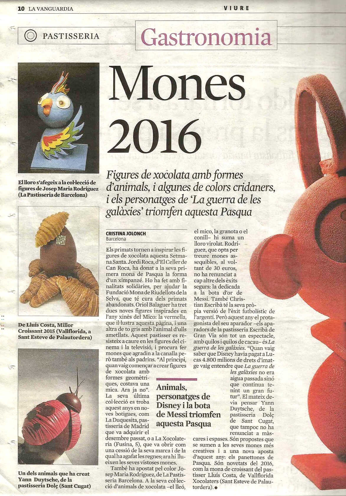 La Vanguardia : Mones 2016